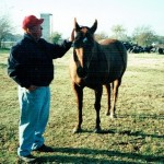 Jerry with one of his horses