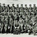 Jerry with platoon at Fort Ord, (third from bottom left)
